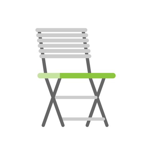 Demo Gartenstuhl Mit Breiter Sitzfläche
