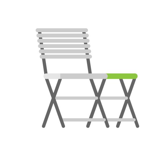 Demo Gartenstuhl mit Tisch