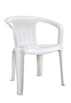 Kunststoff Sessel Weiß