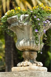 Blumentopf-Pflanzenkübel Keramik Stein